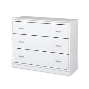 Commode 3 tiroirs Mobby Blanc Solide - South Shore