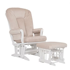 Combo chaise et tabouret PG / inclinable Blanc / Beige - Dutailier