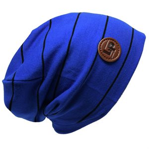 Tuque en coton Boston Bleu / Noir 0-3m - L&P