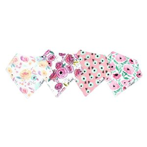 Bavoir Bandana pqt-4 Bloom - CopperPearl