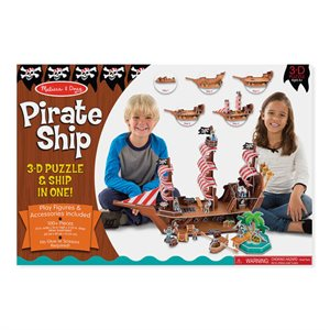 Casse-tête 3D Pirate Ship - Melissa & Doug