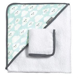 Hooded towel set Cloudy - Tomy
