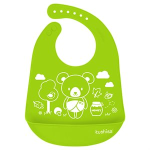 Silicatch Bib Baby Bear / Citrus - Kushies