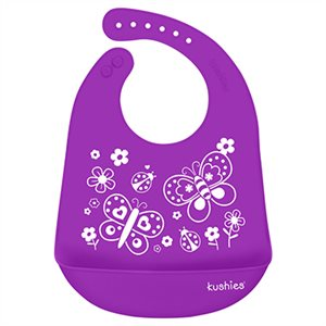 Silicatch Bib Butterfly Kiss / Violet - Kushies