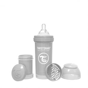 Biberon anti-colique 260ml Pastel grey - Twistshake