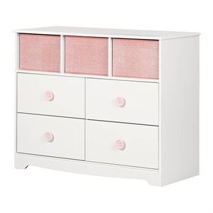 Commode 4 tiroirs avec paniers Sweet Piggy Blanc Solide - South Shore