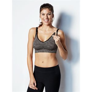 Soutien-gorge Yoga Charcoal heather Med. - Bravado